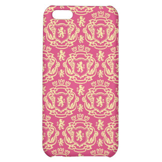 Royal Pink and Yellow Crest iPhone 5C Cover