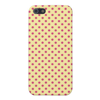 Royal Pink and Yellow Dots Case For iPhone 5