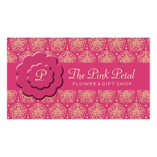 Royal Pink Flowers Double-Sided Standard Business Cards (Pack Of 100)