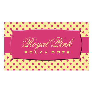 Royal Pink Polka Dots Double-Sided Standard Business Cards (Pack Of 100)