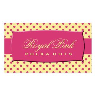 Royal Pink Polka Dots Business Cards