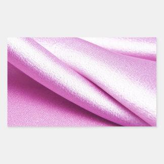 royal pink velvet silk textile elegant chic lovely rectangle sticker