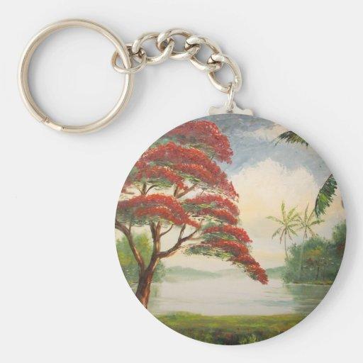 Royal Poinciana (Flamboyant Tree) Key Chain