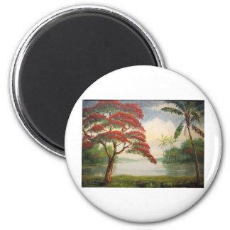 Royal Poinciana ( Flamboyant Tree) Magnet
