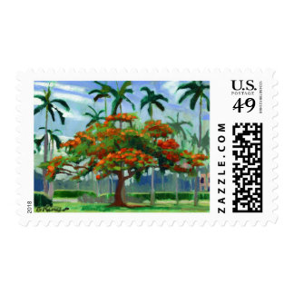 Royal Poinciana postage stamp