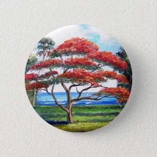 Royal Poinciana Tree Art Button