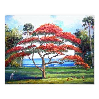 Royal Poinciana Tree Art Card
