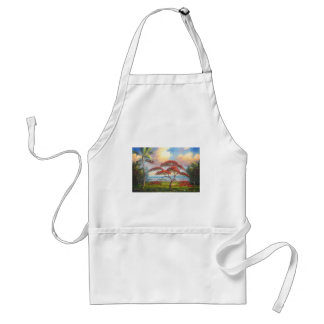 Royal Poinciana Tree Painting Adult Apron