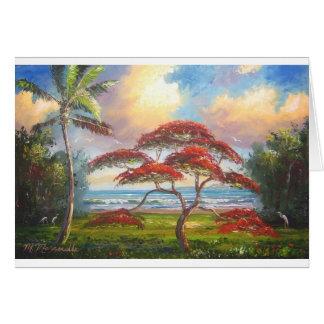 Royal Poinciana Tree Painting Card