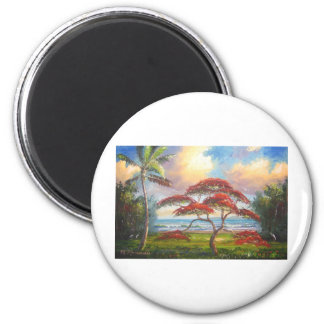 Royal Poinciana Tree Painting Magnet