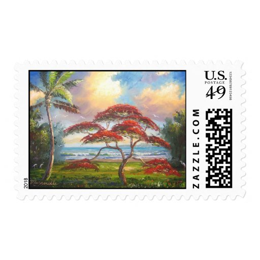 Royal Poinciana Tree Postage Stamps