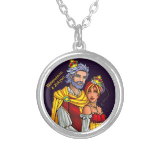 Royal Portrait Silver Plated Necklace
