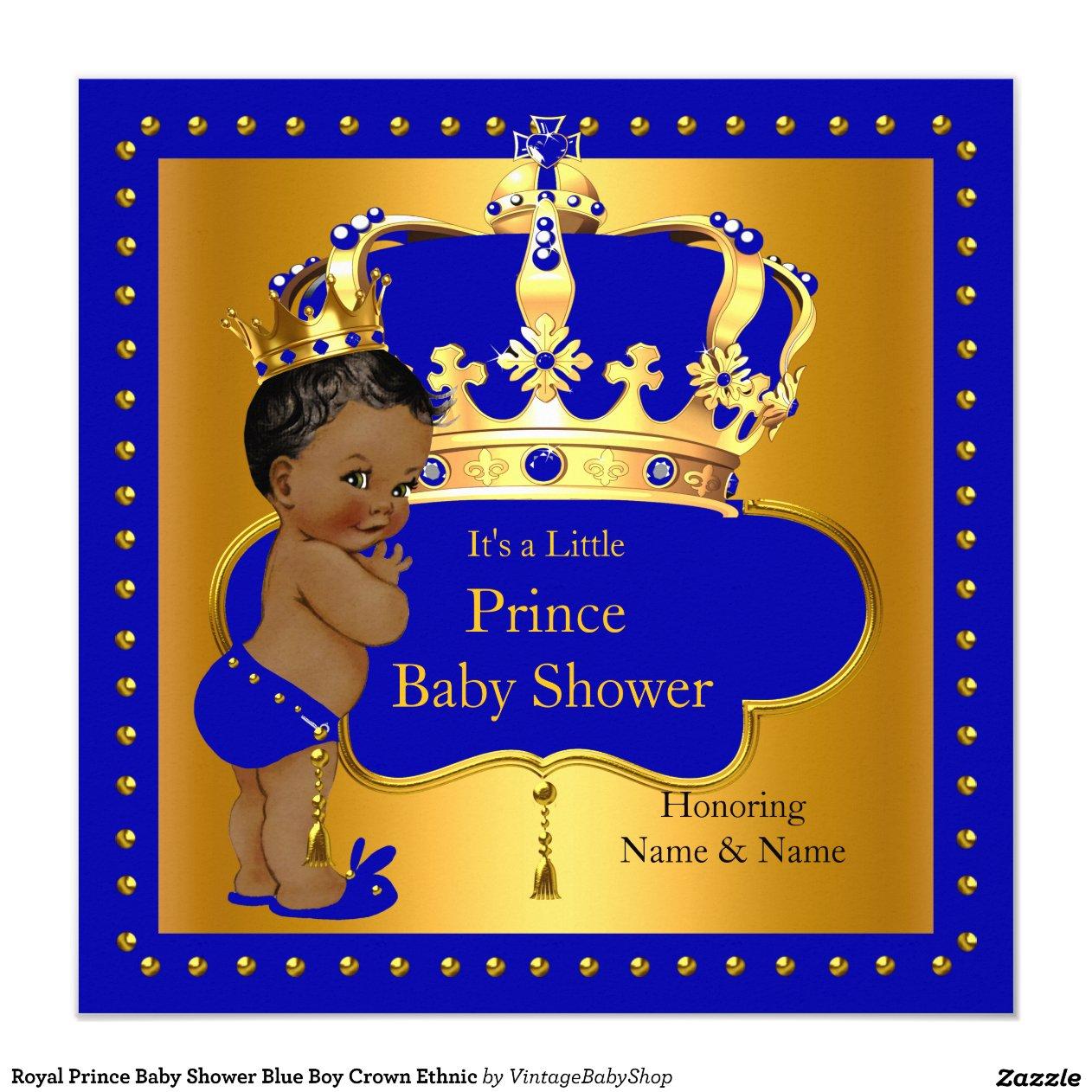 royal_prince_baby_shower_blue_boy_crown_ethnic_invitation ...