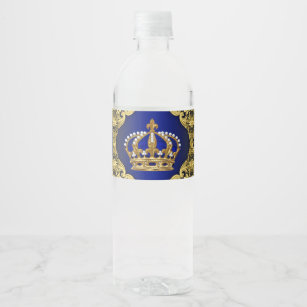 Royal Prince Water Bottle Labels Zazzle