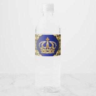 Royal Prince Water Bottle Labels Zazzle