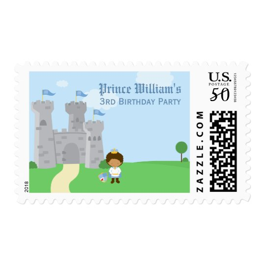 Royal prince charming boys birthday party stamps