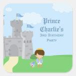 Royal prince charming boys birthday party sticker