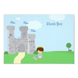 Royal prince charming boys birthday thank you card