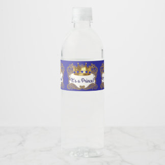 Royal Prince Crown Water Bottle Labels