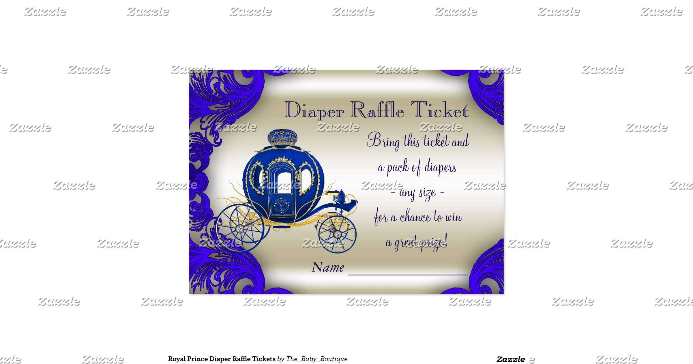 royal prince diaper raffle tickets large business cards