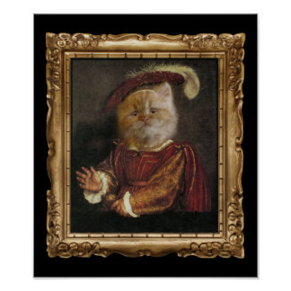 Royal Prince Kitty Framed Portrait Poster