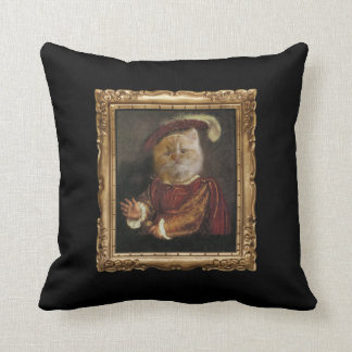 Royal Prince Kitty Portrait Restaurant Pillow