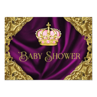 "Royal Princess Baby Shower 4.5"" X 6.25"" Invitation Card"