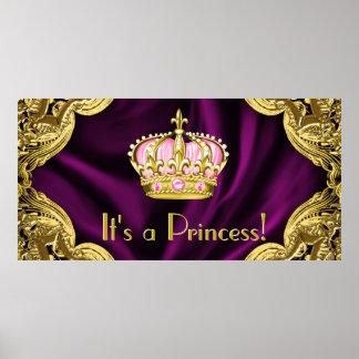 Royal Princess Baby Shower Poster