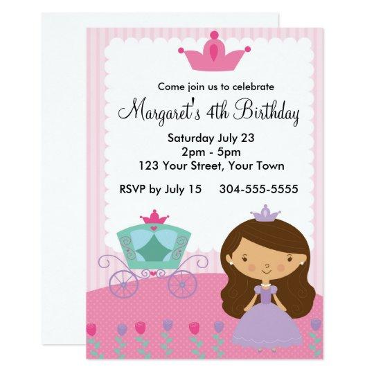 Royal Princess Birthday Party Card