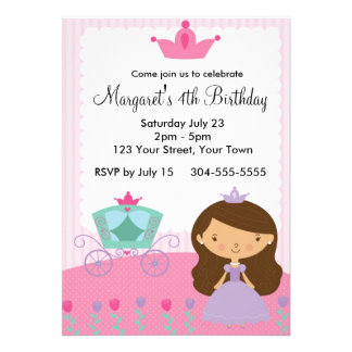 Royal Princess Birthday Party Invites