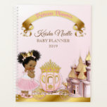 "Royal Princess Castle Carriage Girl Pink Gold Planner<br><div class=""desc"">Sweet little princess with her crown and carriage in front of her castle. Done in pink &amp; gold.</div>"