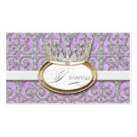 Royal Princess Crown Baby Girl Shower Favor Tags Business Card Template