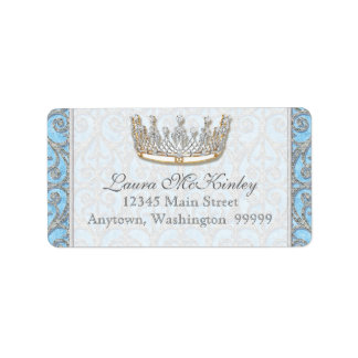 Royal Princess Crown Baby Matching Address Label