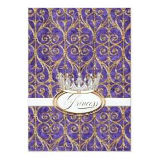"Royal Princess Crown Baby Shower Invitation 5"" X 7"" Invitation Card"