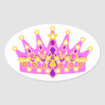 Royal Princess Crown Oval Sticker