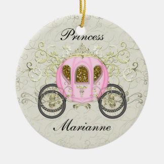 Royal Princess Party - SRF Double-Sided Ceramic Round Christmas Ornament