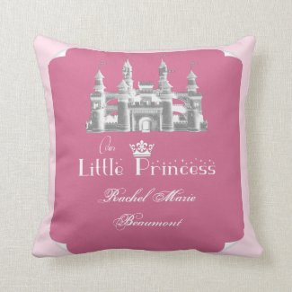 Royal Princess Pink Baby Girl Keepsake Pillow