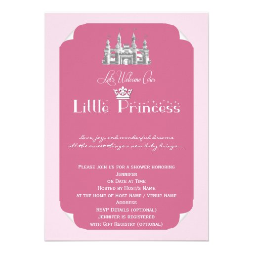 Royal Princess Baby Shower Invitations is an amazing ideas you had to choose for invitation design
