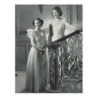 Royal princesses, Elizabeth and Margaret Postcard