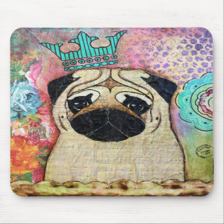 Royal Pug Mouse Pad Shabby Chic Cottage colors