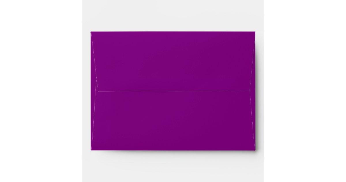 royal purple a7 5x7 envelopes with return address zazzle