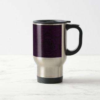 Royal Purple and Black Mandala Pattern Travel Mug