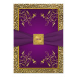 Royal Purple and Gold 90th Birthday Invitation