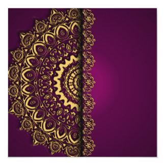 Royal Purple and Gold Invitation
