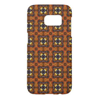 Royal Purple and Gold Pattern Samsung Galaxy S7 Case