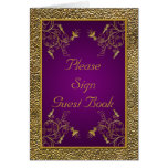 Royal Purple and Gold Table Card Greeting Cards