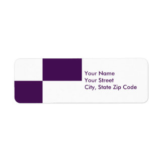 Royal Purple and White Rectangles address label