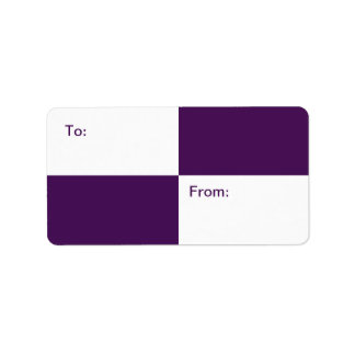 Royal Purple and White Rectangles gift tag