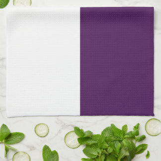 Royal Purple and White Rectangles Kitchen Towel
