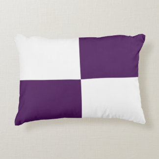 Royal Purple and White Rectangles Accent Pillow